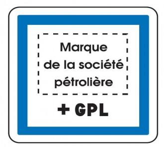 Panneau indication marque pétrolière GPL CE15f - Devis sur Techni-Contact.com - 1