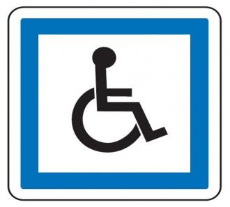 Panneau indication personnes handicapées CE14 - Devis sur Techni-Contact.com - 1