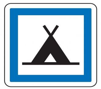 Panneau indication terrain de camping CE4a - Devis sur Techni-Contact.com - 1