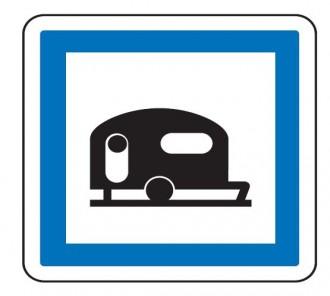 Panneau indication terrain pour caravanes CE4b - Devis sur Techni-Contact.com - 1