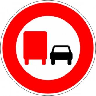 Panneau interdiction au camion de doubler B3a - Devis sur Techni-Contact.com - 1