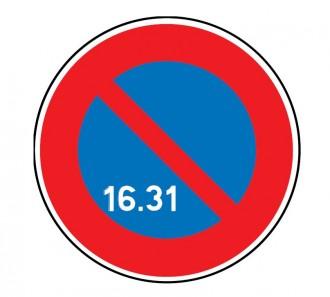 Panneau interdiction stationner 16 au 31 du mois B6a3 - Devis sur Techni-Contact.com - 1