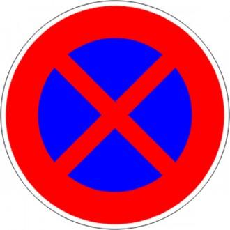Panneau interdiction stationner ou arrêter B6d - Devis sur Techni-Contact.com - 1