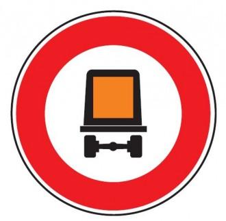 Panneau interdiction véhicule transportant marchandise dangeureuse B18c - Devis sur Techni-Contact.com - 1