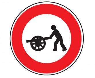 Panneau interdit au véhicule à bras B9e - Devis sur Techni-Contact.com - 1