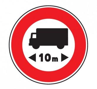 Panneau interdit au véhicule plus de 10 m B10 - Devis sur Techni-Contact.com - 1