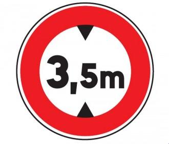 Panneau interdit au véhicule plus de 3.5 m B12 - Devis sur Techni-Contact.com - 1