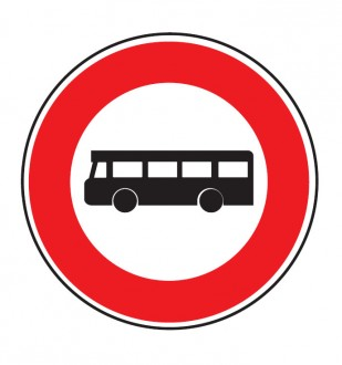 Panneau interdit au véhicule transport commun B9f - Devis sur Techni-Contact.com - 1