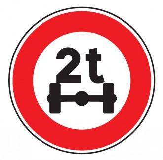 Panneau limitation de poids par essieu B13a - Devis sur Techni-Contact.com - 1