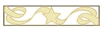 Panneau lumineux horizontal motif étoile et ruban pour décoration de rue - Devis sur Techni-Contact.com - 1