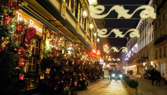 Panneau lumineux horizontal motif étoile et ruban pour décoration de rue - Devis sur Techni-Contact.com - 2