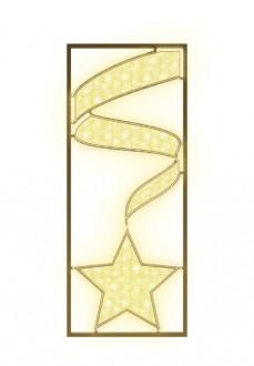 Panneau lumineux vertical motif étoile et ruban - Devis sur Techni-Contact.com - 3