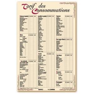 Panneau menu pour bar et brasserie - Devis sur Techni-Contact.com - 2