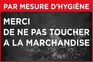 Panneau pas toucher à la marchandise - Devis sur Techni-Contact.com - 1