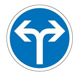 Panneau obligation aller à droite ou à gauche B21e - Devis sur Techni-Contact.com - 1