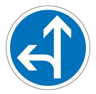 Panneau obligation aller tout droit ou à gauche B21d2 - Devis sur Techni-Contact.com - 1