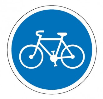 Panneau obligation de bande ou piste cyclable B22a - Devis sur Techni-Contact.com - 1