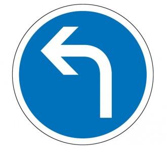 Panneau obligation de tourner à gauche B21c2 - Devis sur Techni-Contact.com - 1