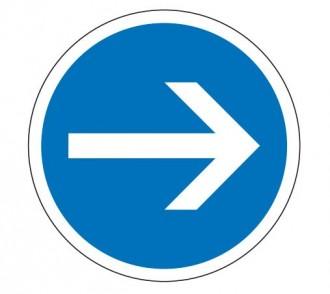 Panneau obligation tourner à droite B21.1 - Devis sur Techni-Contact.com - 1