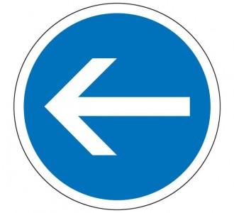 Panneau obligation tourner à gauche B21.2 - Devis sur Techni-Contact.com - 1