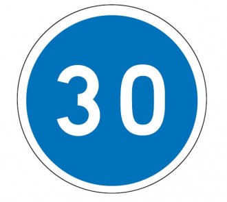 Panneau obligation vitesse minimale 30 km/h B25 - Devis sur Techni-Contact.com - 1
