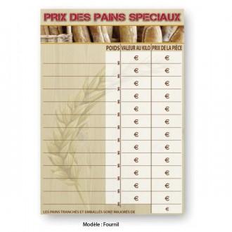 Panneau prix pour pain - Devis sur Techni-Contact.com - 1