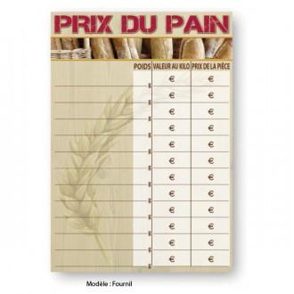 Panneau prix pour pain - Devis sur Techni-Contact.com - 2
