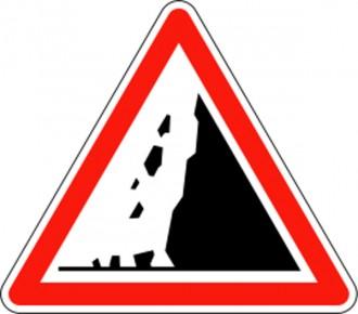 Panneau risque chutes de pierres A19 - Devis sur Techni-Contact.com - 1