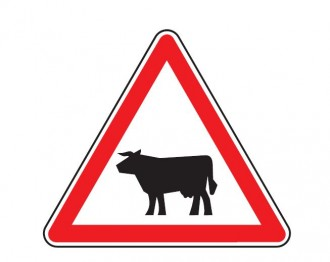 Panneau signalant le passage d'animaux domestiques A15a1/ A15a2 - Devis sur Techni-Contact.com - 1