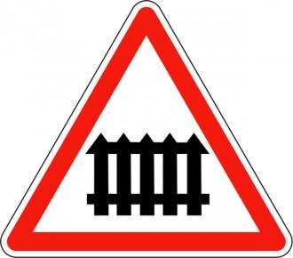 Panneau signalant un passage à niveau muni de barrières A7 - Devis sur Techni-Contact.com - 1