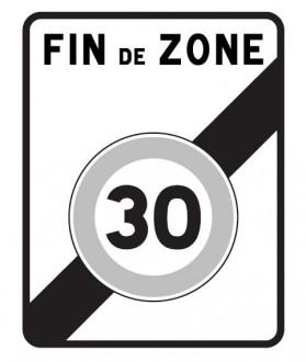 Panneau sortie d'une zone 30 B51 - Devis sur Techni-Contact.com - 1