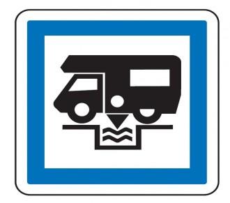 Panneau Station de vidange pour camping car CE24 - Devis sur Techni-Contact.com - 1