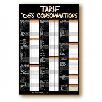 Panneau tarifs des consommations - Devis sur Techni-Contact.com - 1