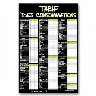 Panneau tarifs des consommations - Devis sur Techni-Contact.com - 2