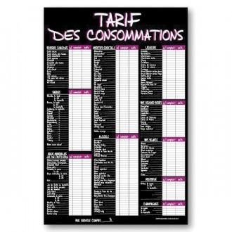 Panneau tarifs des consommations - Devis sur Techni-Contact.com - 3