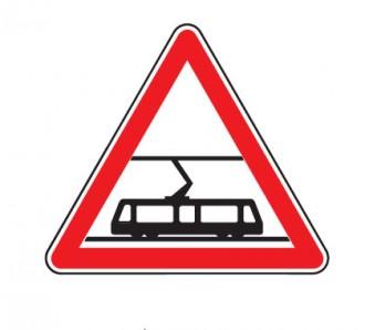Panneau traversée voies tramways A9 - Devis sur Techni-Contact.com - 1