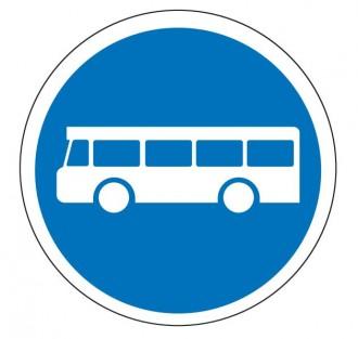 Panneau voie réservée au autobus de transport commun B27a - Devis sur Techni-Contact.com - 1