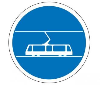 Panneau voie réservée au tramway B27b - Devis sur Techni-Contact.com - 1