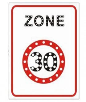 Panneau zone 30 à Led lumineux et dynamique - Devis sur Techni-Contact.com - 1