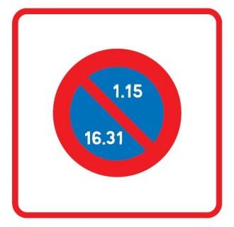 Panneau zone stationnement unilatéral semi mensuel B6b2 - Devis sur Techni-Contact.com - 1