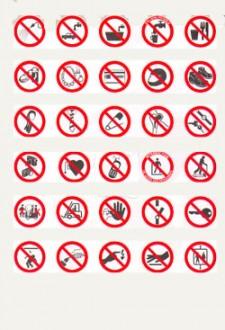 Panneaux d'interdiction sur support adhésif - Devis sur Techni-Contact.com - 1