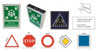 Panneaux de signalisation lumineux solaire - Devis sur Techni-Contact.com - 1