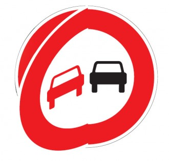 Panneau de signalisation temporaire d'interdiction de dépasser à volet mobile BK - Devis sur Techni-Contact.com - 1