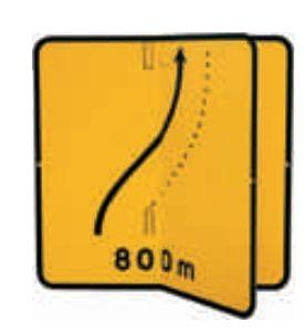 Panneau de signalisation temporaire de direction avec volet KD8. - Devis sur Techni-Contact.com - 1