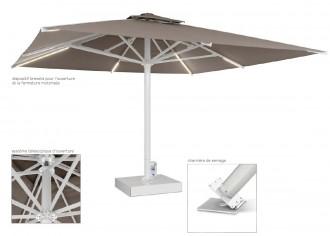 Parasol géant automatique pour terrasse - Devis sur Techni-Contact.com - 2