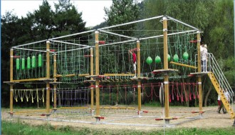 Parcours acrobatique mobile 60 à 175 m de parcours - Devis sur Techni-Contact.com - 1