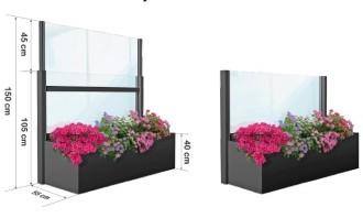 Pare-vent télescopique avec jardinière - Devis sur Techni-Contact.com - 2