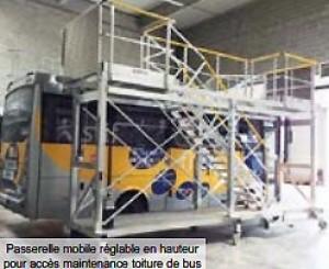 Passerelle mobile maintenance toiture bus - Devis sur Techni-Contact.com - 1
