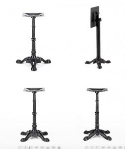 Pied de table bistrot extérieur simple - Devis sur Techni-Contact.com - 1