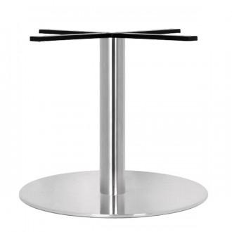 Pied de table en inox brossé pour plateau rond - Devis sur Techni-Contact.com - 1